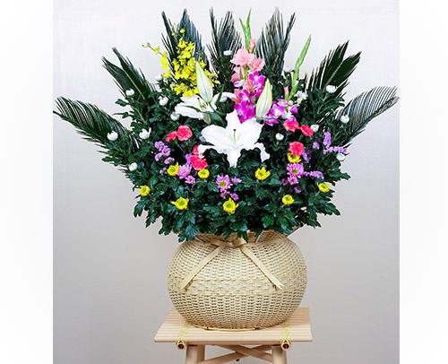 お悔み・お供えのお花「ダルマかご」画像