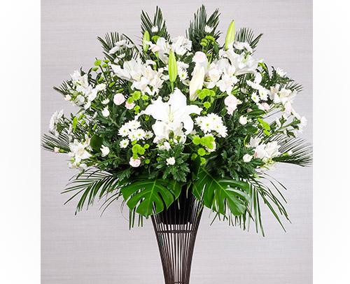 お悔み・お供えのお花「お供えスタンドフラワー」画像